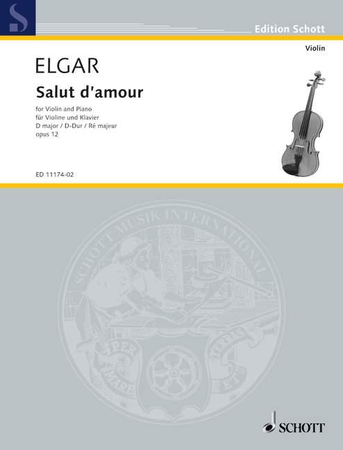Methodisch Salut D'amour Op. 12/3 D Major Elgar, Edward Violin And Piano 9790220108549 We Nemen Klanten Als Onze Goden